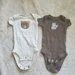 Newborn onesies from carters